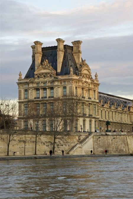 Free Paris. France. South facade of the Palais du Louvre