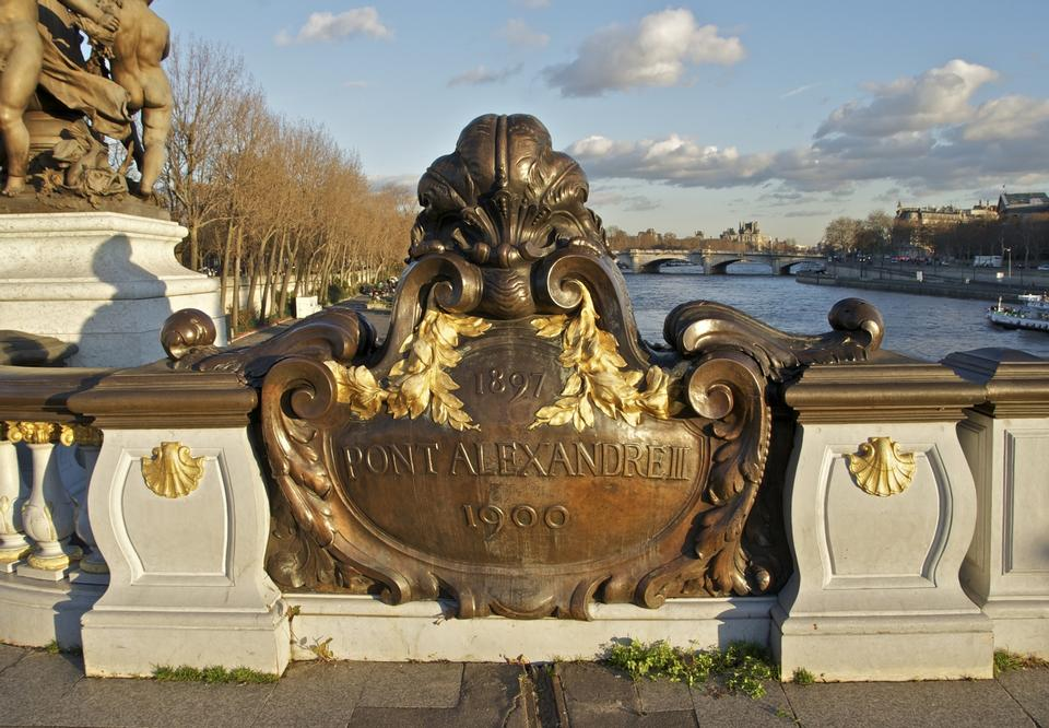 Free Bridge of Alexandre III in Paris