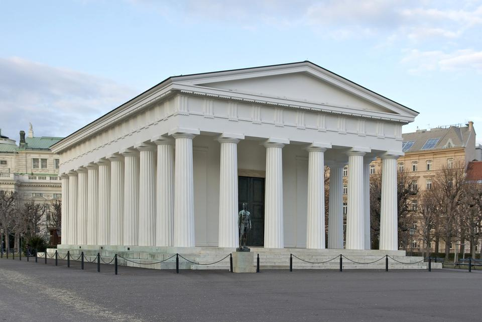 Free Theseus temple in park Volksgarten in Vienna, Austria