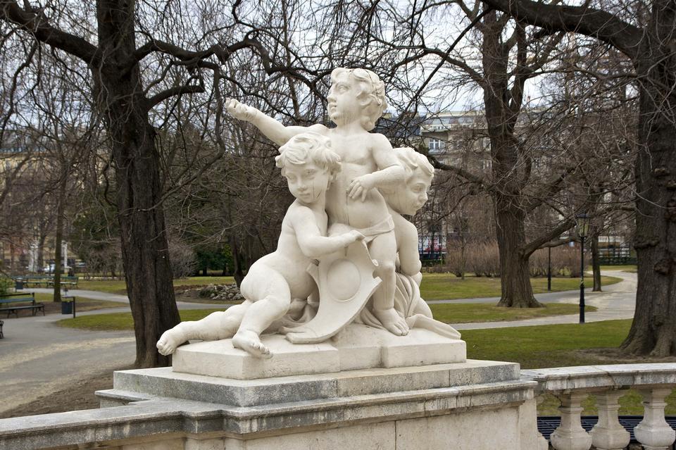 Free Landmark of Vienna, Austria. Burggarten in Vienna, Austria