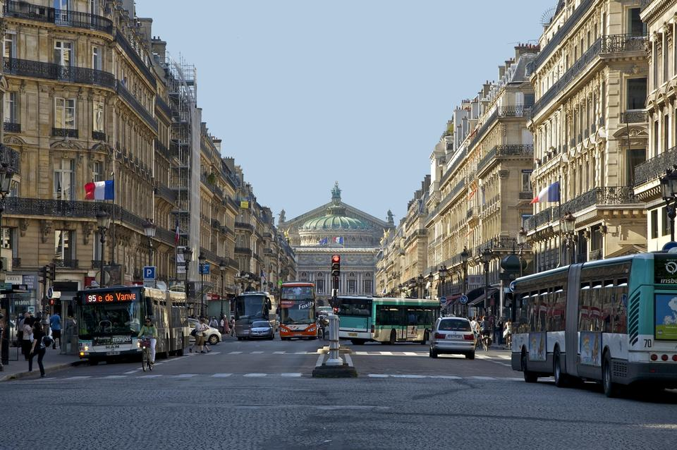 Free view of Avenue de l Opera in Paris, France