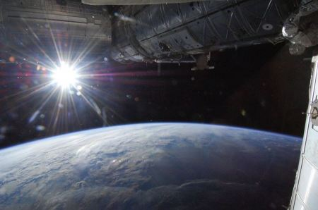 Free Sun Over Earth's Horizon