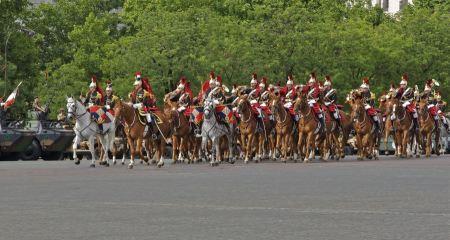 Free The royal horse guards Charles-de-Gaulle square, Paris, France