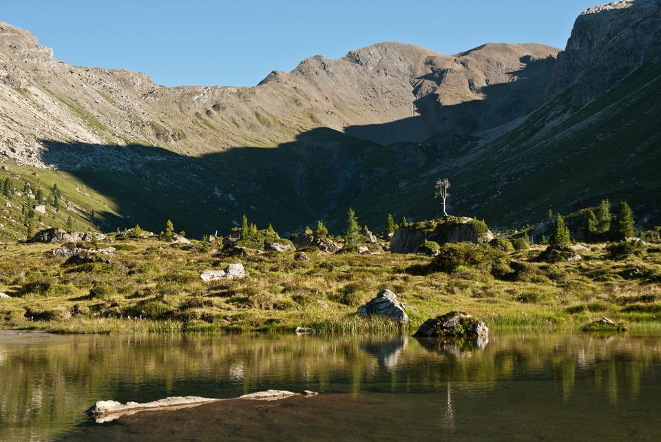 Free Lizumer hut Tux Alps in the  Austria