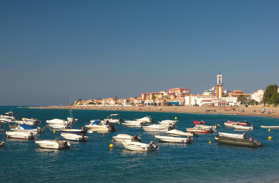 Free Boats lboran sea, Granada province, Spain