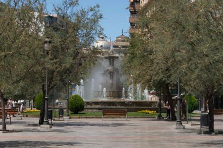 Free Fountain of the Battles  in Granada, Spain.