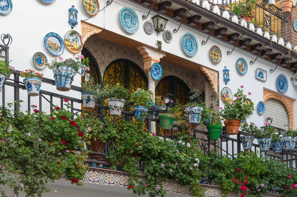 Free Beautiful street decorated with flowers