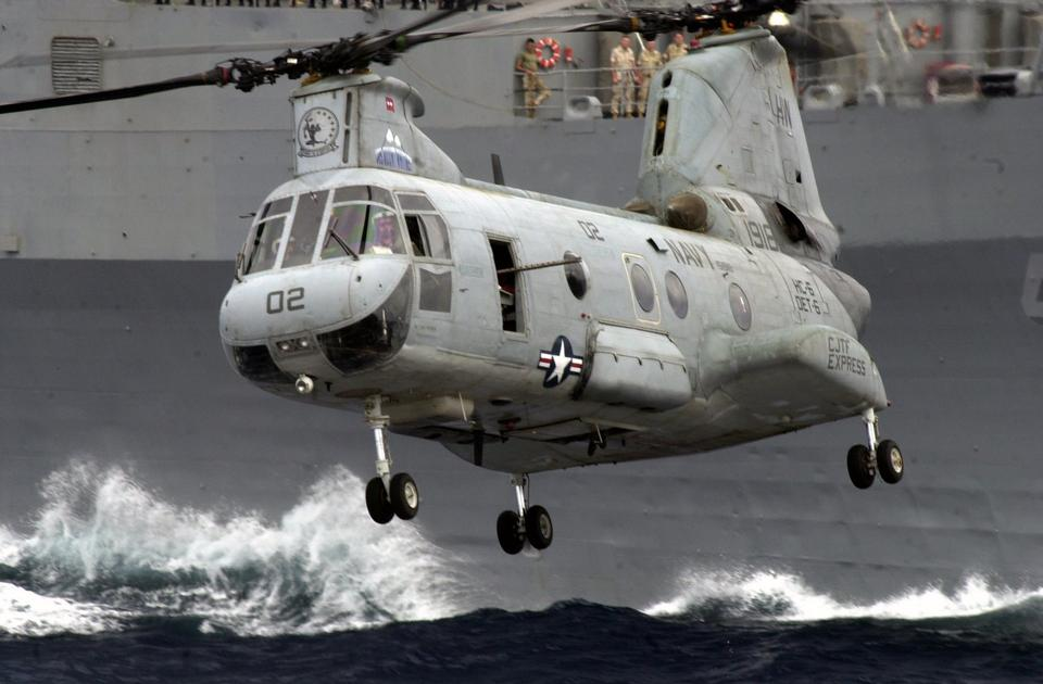 Free A CH-46 Sea Knight Helicopter