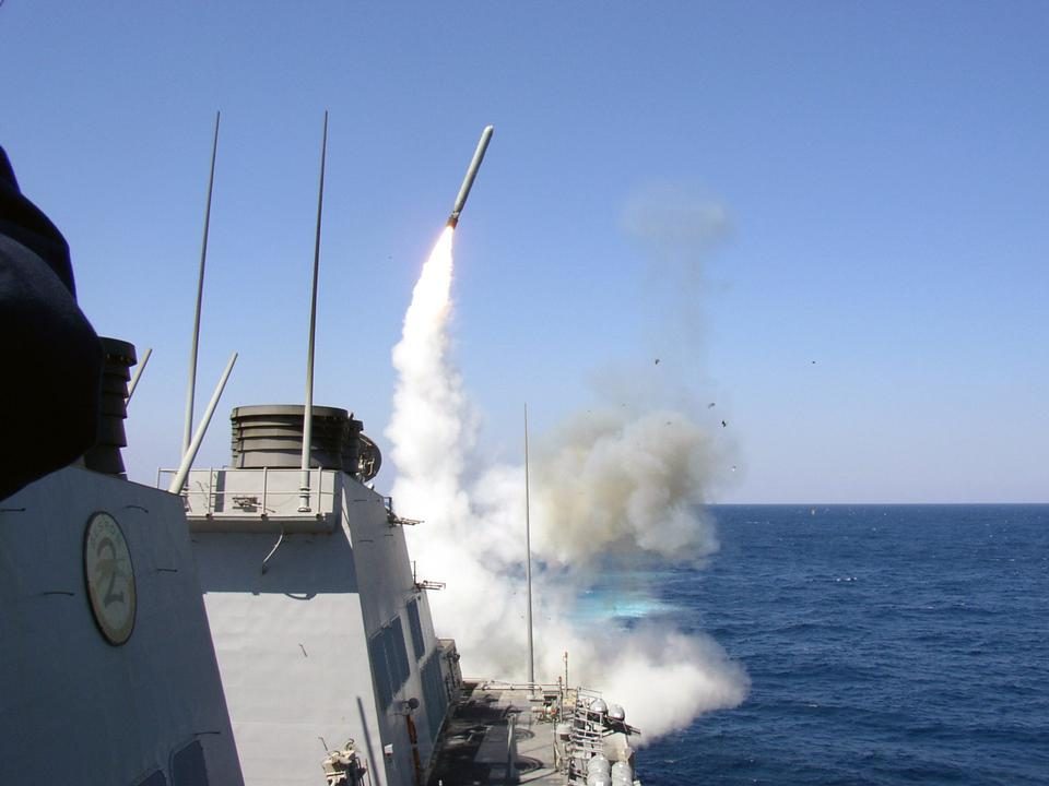 Free USS Porter launches a Tomahawk
