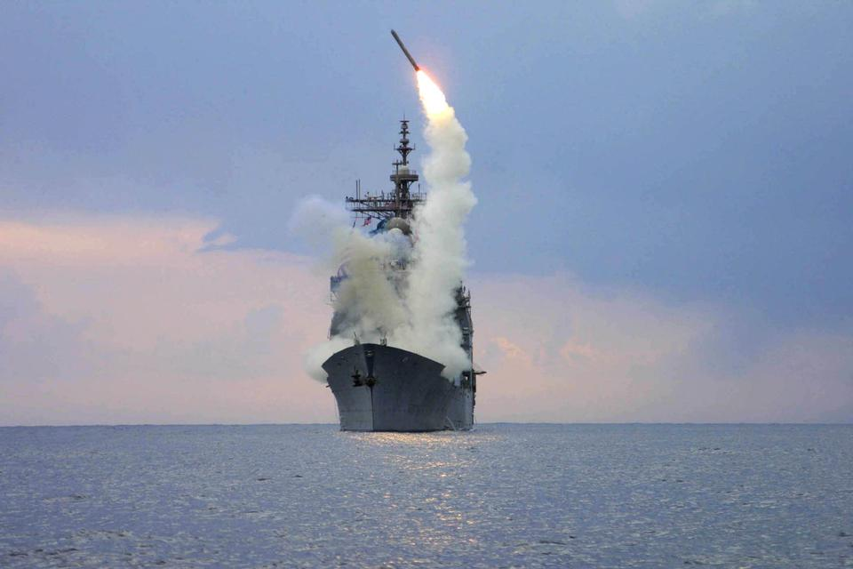 Free A Tomahawk Land Attack Missile is launched