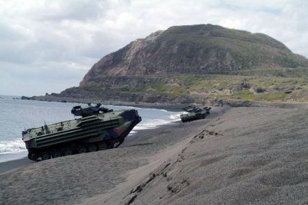 Free Amphibious Assault Vehicles line the beach