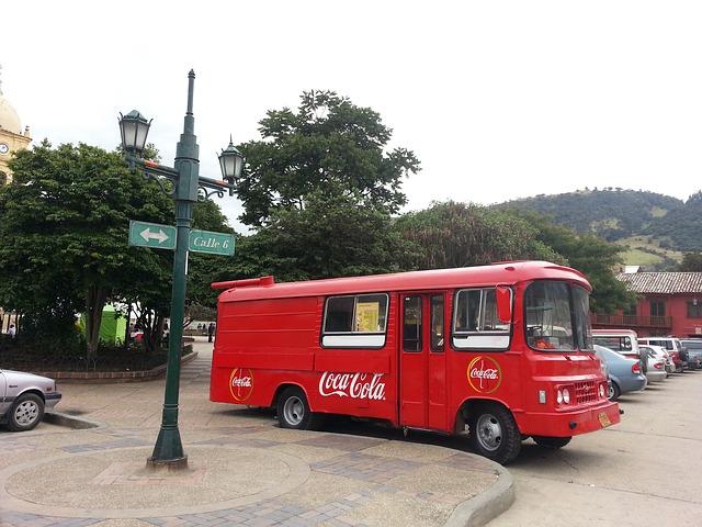 Free bogotá colombia bus coca cola