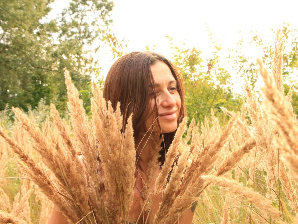 Free Woman In Tall Grass