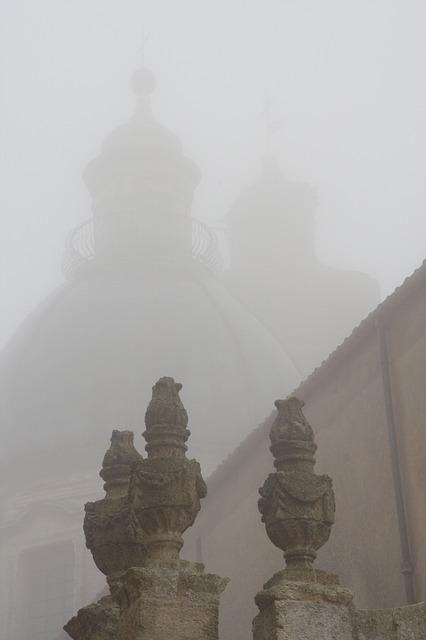 Free italy sicily caltagirone fog