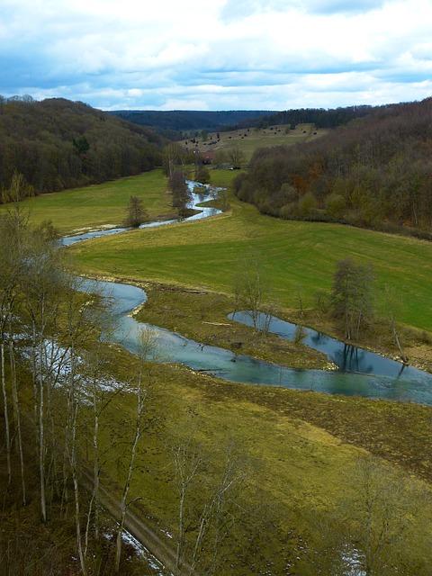 Free eselsburg valley brenz river water valley