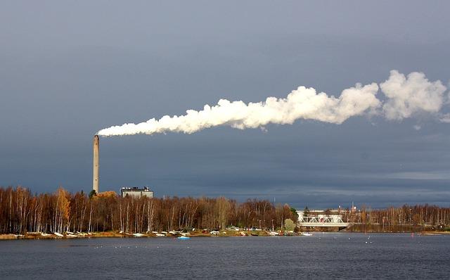 Free oulu finland plant power smoke sky clouds harbor