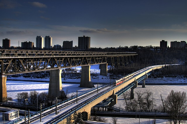 Free edmonton canada bridge bridges buildings river
