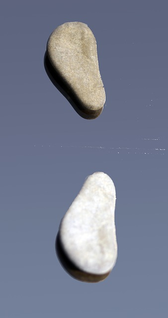 Free stones feet pair scattered mirroring