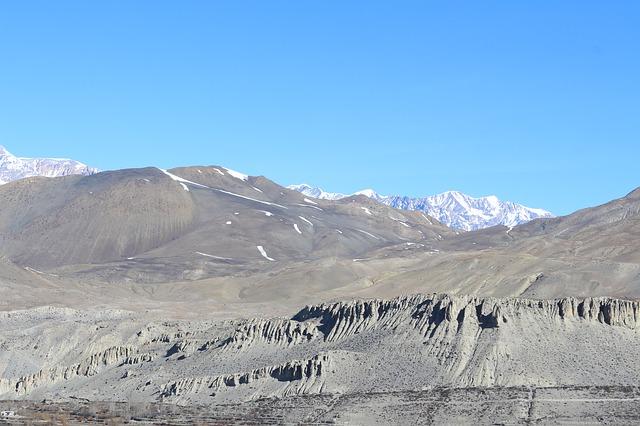 Free dry mountains desert blue sky landscape