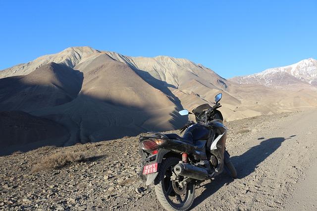 Free motor bike bike transport mountain peak ride high