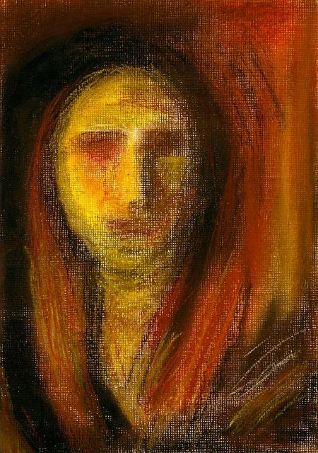 Free art pastel painting madonna