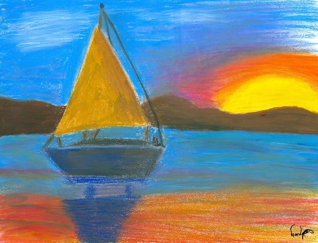 Free art frame pastel
