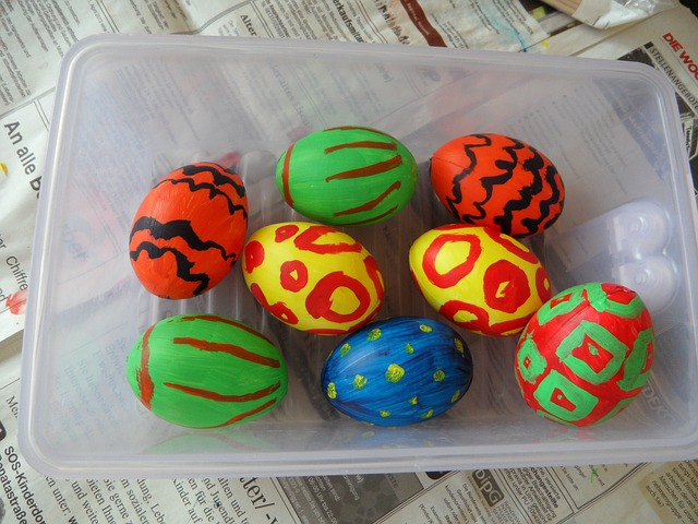 Free egg easter eggs painted colorful spring easter