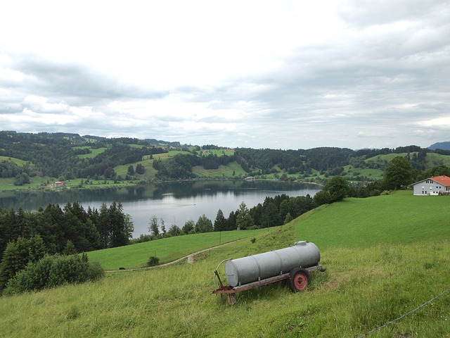 Free germany immenstadt sky clouds hills lake water