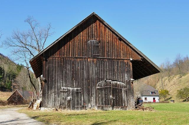 Free austria barn farm rural wood wooden sky clouds