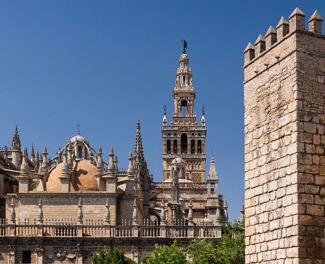 Free seville spain real alcazar cathedral church