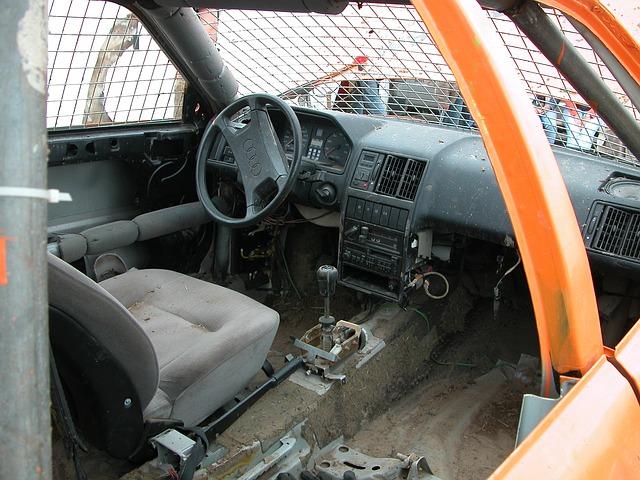Free interior demolished auto stock car racing restored