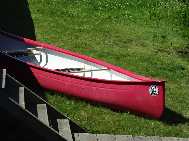 Free boot pier bodden rowing boat red
