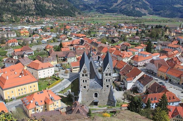 Free friesach austria landscape buildings church houses