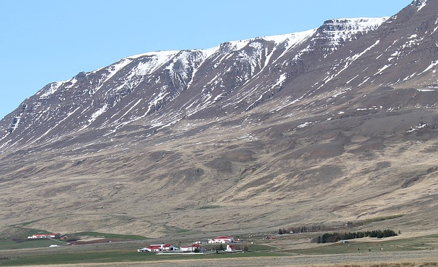 Free iceland landscape scenic mountains snow valley