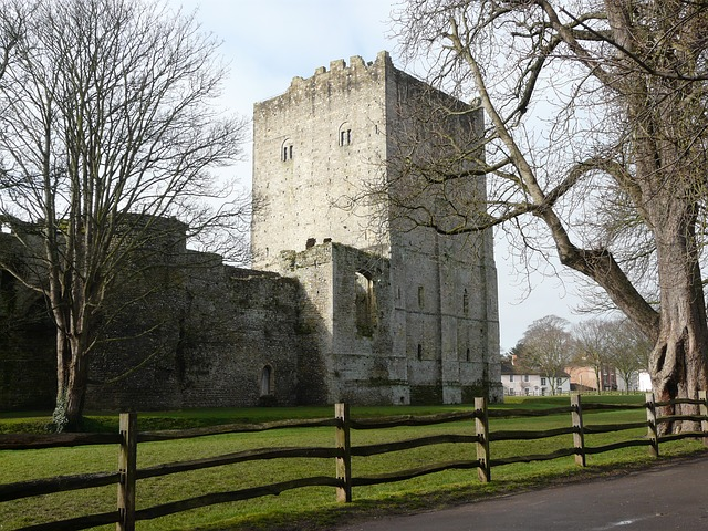 Free portchester castle keep ruins middle ages fortress