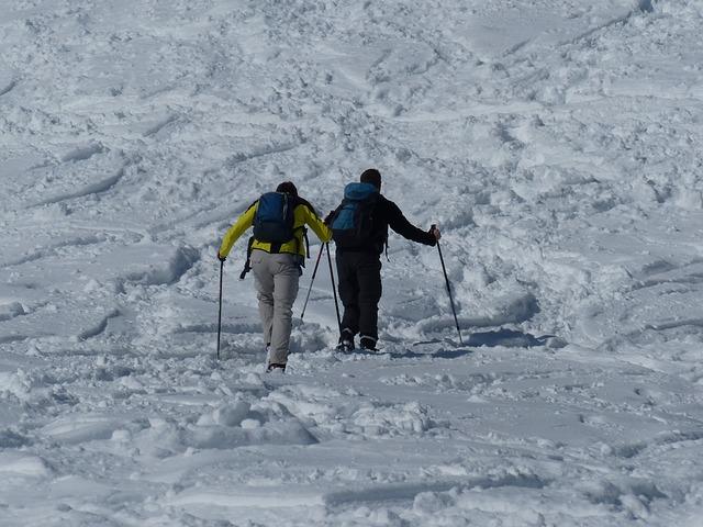 Free human people wanderer snow shoe trek snow shoes