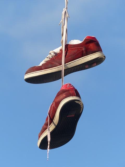 Free               shoes depend leash sky beautiful art red