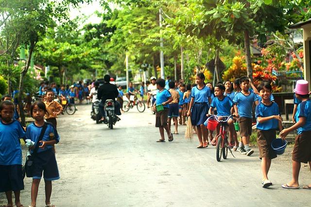 Free bali kids school village island community