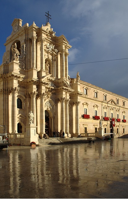 Free italy sicily siracusa piazza del duomo dom church