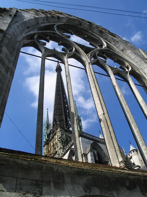 Free rouen cathedral building france normandy