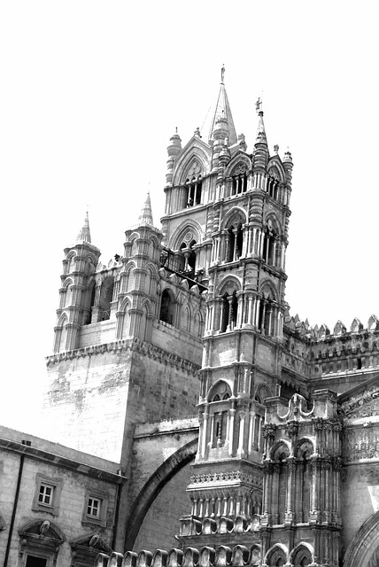 Free palermo monochrome black and white cathedral church