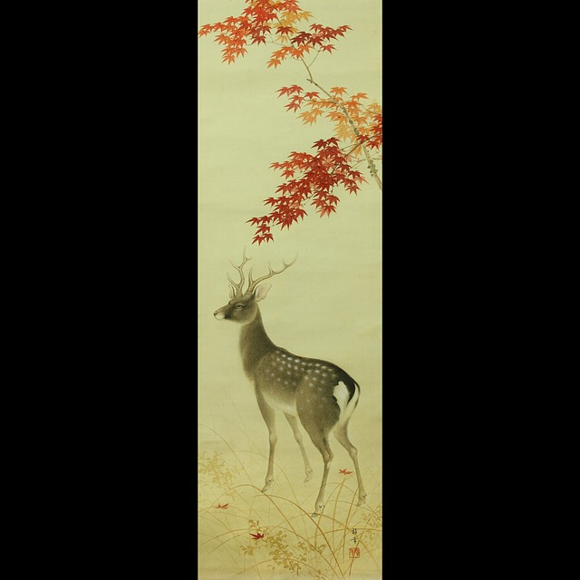 Free Photos: Japan japanese scroll deer stag asian antique | Natasha Rethke
