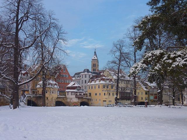 Free esslingen germany landscape winter snow ice