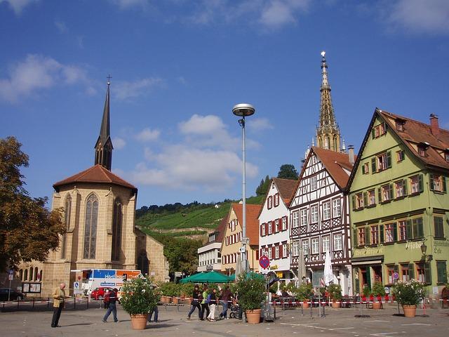 Free esslingen germany plaza buildings city cities