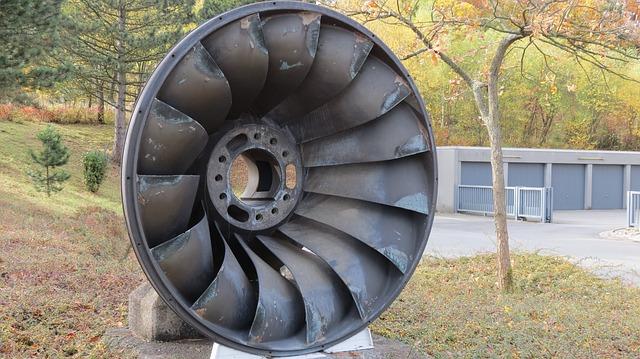 Free turbine wheel water turbine drive water power blade