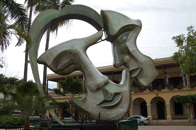 Free two face statue artwork mexico mazatlan park