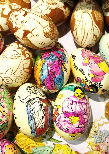 Free easter easter eggs colored color paint painting