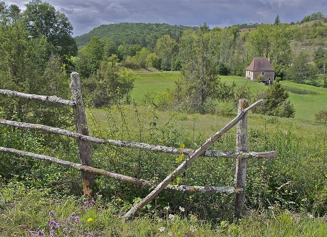 Free dordogne france landscape farm rural sky clouds
