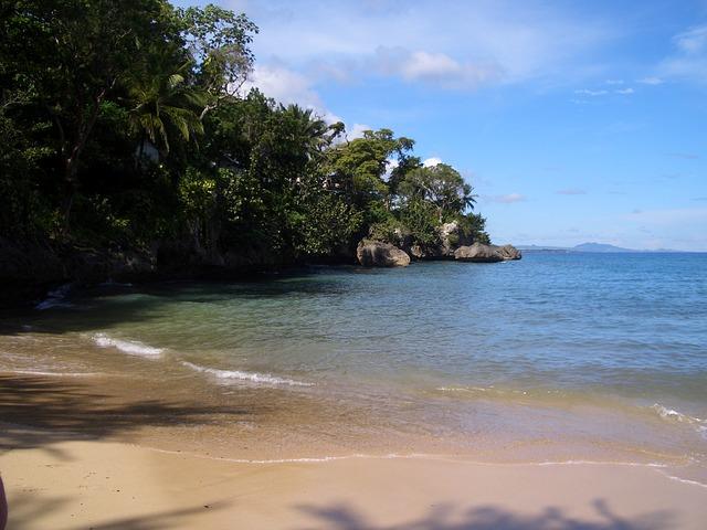 Free tropical beach sea sand ocean caribbean lagoon