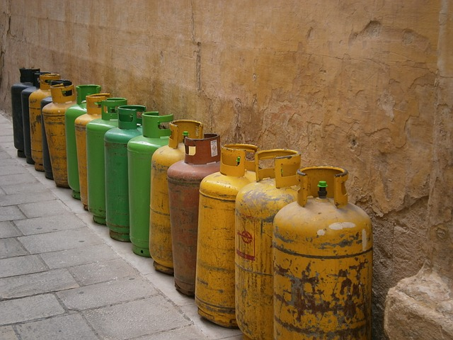 Free gas container gas bottle